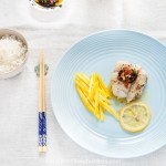 Steamed Cod with Wild Garlic Miso Sauce