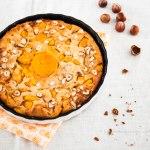 Kaki Persimmon Clafoutis with Hazelnuts