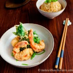 Tempura Prawn with Thai Curry Risotto