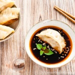 Chinese Dumplings with German Sauer Kraut