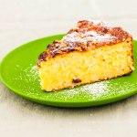Italian orange rice cake